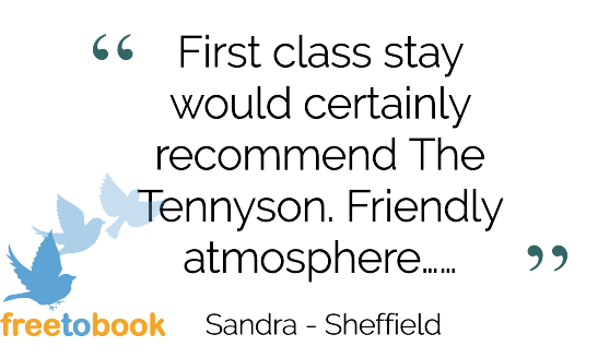 Tennyson Bridlington Testimonials Freetobook review by Sandra