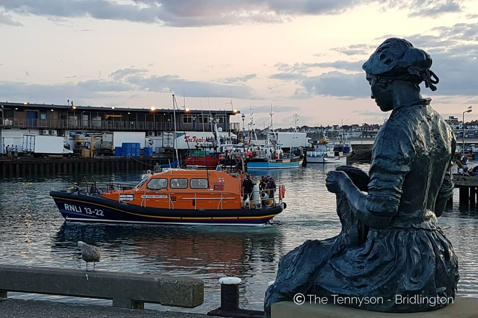 Tennyson Bridlington Lifeboat In Harbour