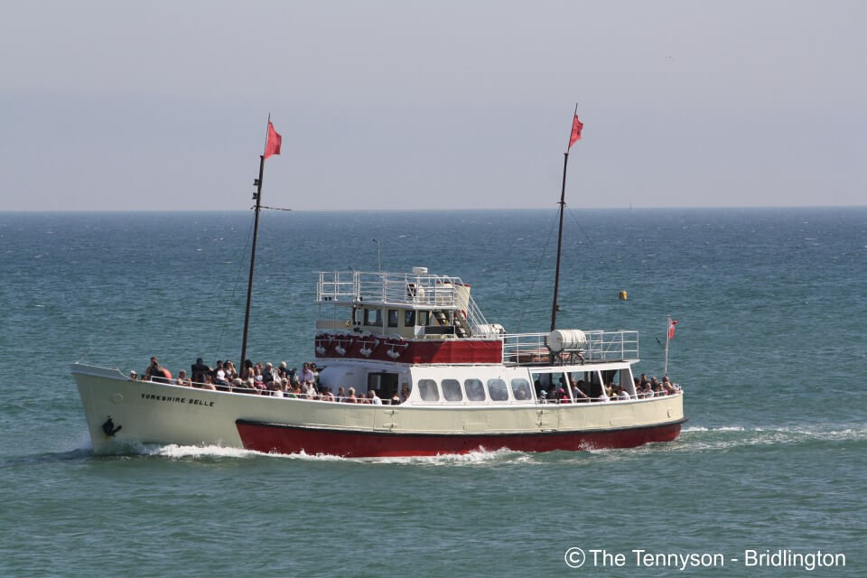 Tennyson Bridlington Yorkshire Belle at sea